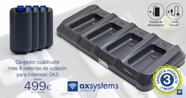 Oferta cargador cuádruple + 4 baterías