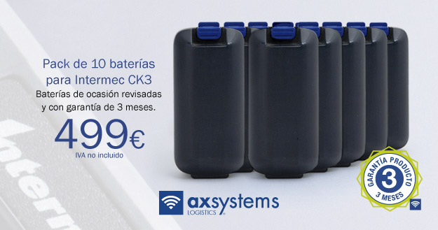 Pack 10 baterías Intermec CK3